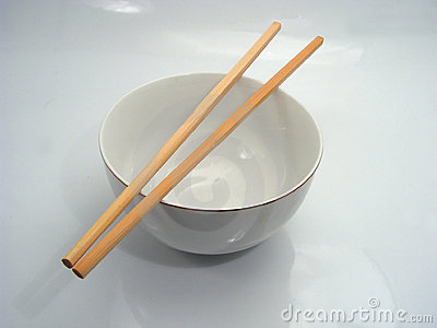 Chinese bowl and chopsticks
