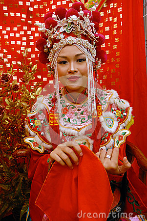 Chinese Bride Editorial Stock Photo