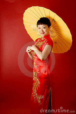 Chinese Bride with a Parasol
