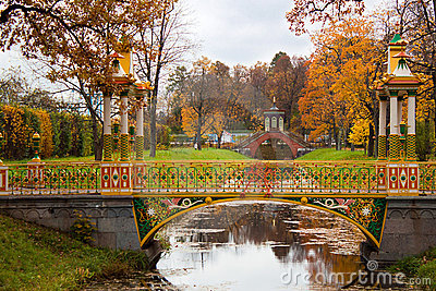 Chinese Bridge in Alexander`s park