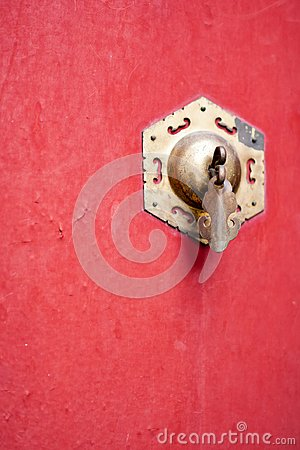 Free Chinese Bronze Door Knocker Stock Image - 101662151