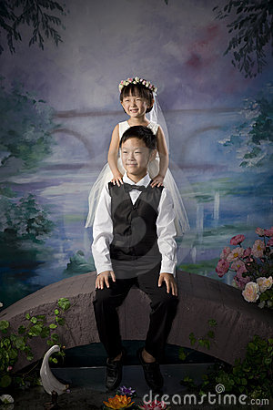 Chinese brother and sister