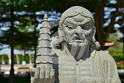 Chinese Buddhist priest statue