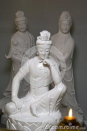 Chinese buddhist statues