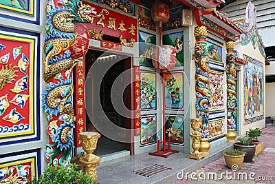 Chinese Buddhist temple, Bangkok, Thailand.