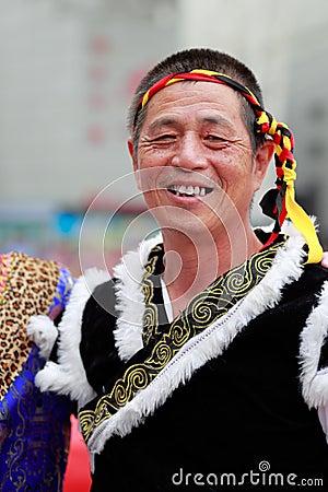 Free Chinese Buyi Ethnic Elderly Man Stock Photos - 79429083