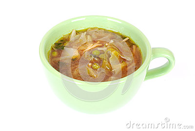 Chinese cabbage noodle soup