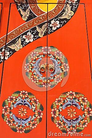 Chinese cabinet door