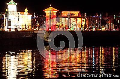 Chinese carnival at night