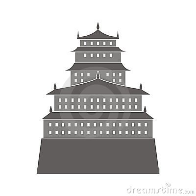 Chinese castle illustration