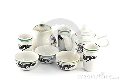 Chinese ceramic tea set