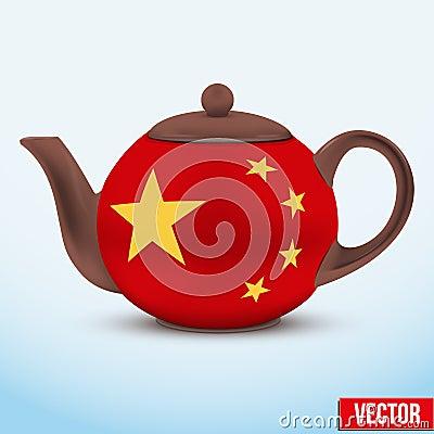 Chinese Ceramic Teapot. Vector Illustration. Stock Vector ...
