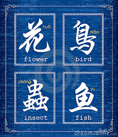 Chinese character symbol about Animals and plants