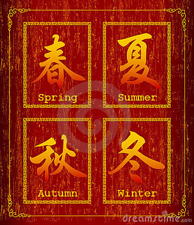 Chinese character symbol about Season