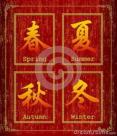 Chinese character symbol about Season