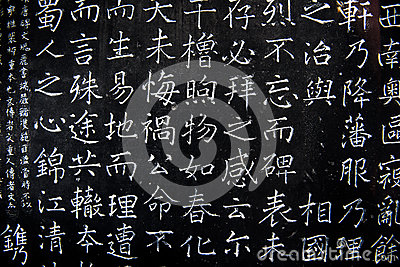 Chinese characters on the wall