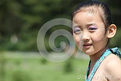 Chinese cheerful girl