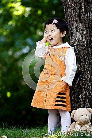 Chinese cheerful girl
