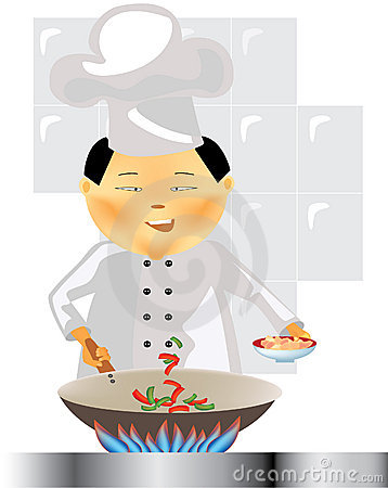 Chinese chef at work
