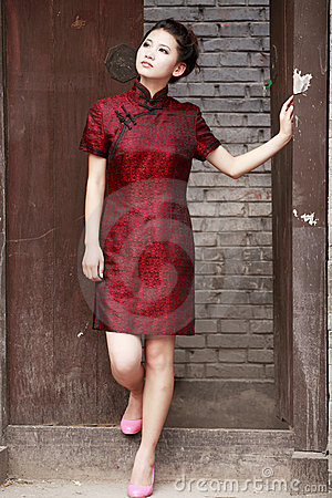 Chinese cheongsam model