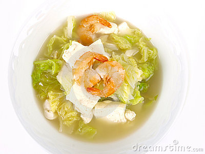 Chinese Chicken stock tofu soup