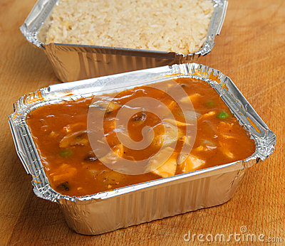 Chinese Chicken Takeaway Meal & Rice
