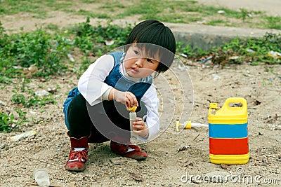 Chinese children playing.