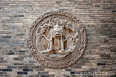 Chinese classic brick wall