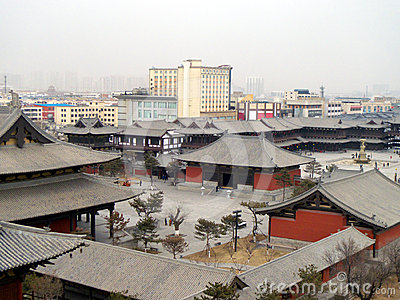 Chinese classic buildings in datong city