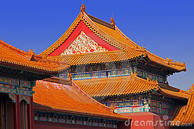 Chinese classic roof. Forbidden city