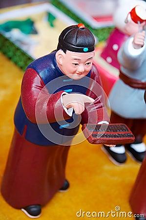 Chinese clay figurine