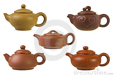 Chinese clay teapots.