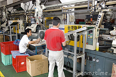 Chinese clock factory Editorial Stock Photo