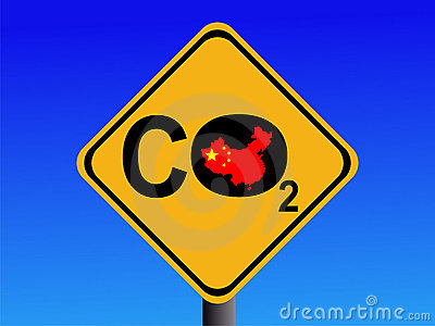 Chinese CO2 emissions sign
