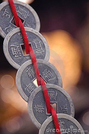 Chinese Coins On String Stock Photography Image 12572