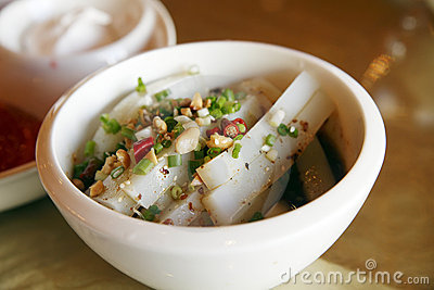 Chinese cold dish - bean jelly