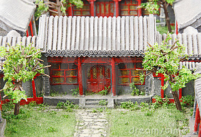 Chinese courtyard model