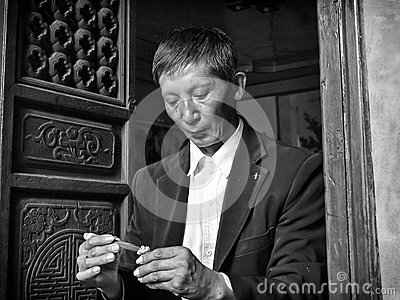 Chinese craftsman Editorial Photo