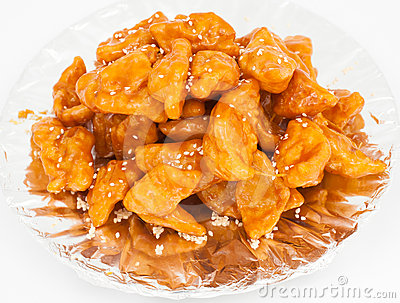 Chinese cuisine - caramelized eggs