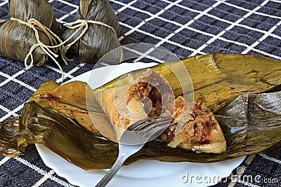 Chinese cuisine of rice Dumplings