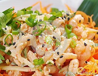 Chinese cuisine .salad of shrimp