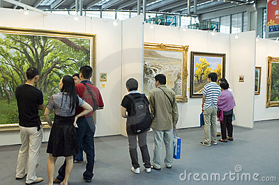 Chinese Culture Fair - art gallery Editorial Photography