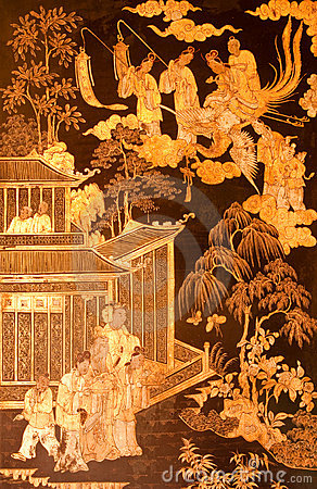 Free Chinese Culture Painting In Thai Tradtional Art Royalty Free Stock Photo - 9326295