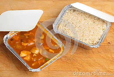 Chinese Curry & Rice Takeaway Meal