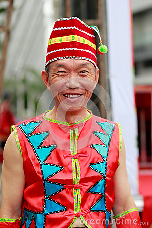 Free Chinese Dai Nationality Elderly Man Royalty Free Stock Images - 79221359