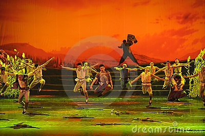 Chinese dance drama : Railway Guerrillas Editorial Image