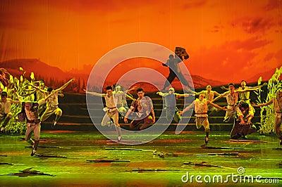Chinese dance drama : Railway Guerrillas Editorial Image