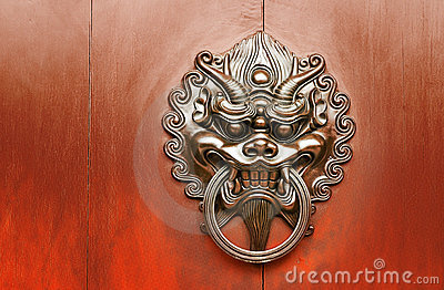 Chinese decoration of bronze lion