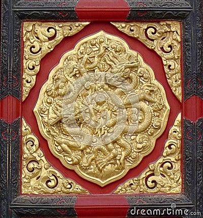 Chinese Design - door panel