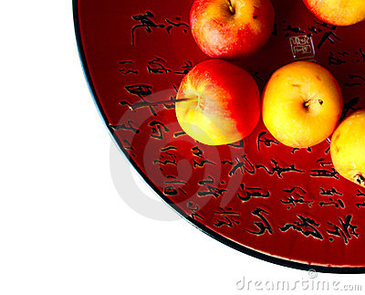Chinese dish with apples